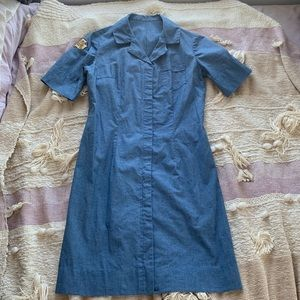 EUC Vintage Army-style Dress with Patch (size S)